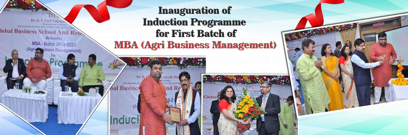 Inauguration of Induction Programme for First Batch of MBA (Agri Business Management)